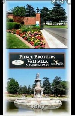 Two side by side Burial plots at Pierce Brothers Valhala Memorial Park