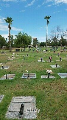 Veterans Garden of Honor double depth burial plots in the Phoenix Memorial Park