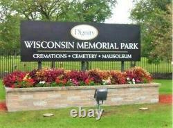 Wisconsin Memorial Park WI PRIME LOCATION Cemetery Grave Plots